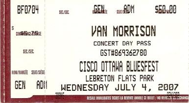 Van Morrison ticket