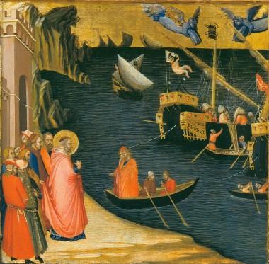 Miracle of St.Nicholas - Ambrogio Lorenzetti (c.1330)