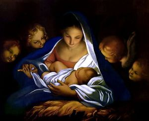 8x10-carlo-marratta-print-nativity-holy-night-manger-virgin-child-angel-cherub-0a73b6374b495009091d13ef58f90569